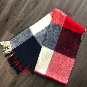 Other - Large Plaid-print scarf